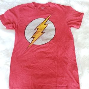 DC Comics flash red short sleeves tee shirt
